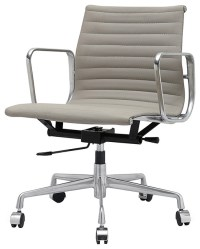 M341 Eames Style Aluminum Office Chair In Grey Italian ...