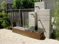 Contemporary Wall Fountains Outdoor Styles - pixelmari.com