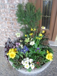 Spring Planter Decor - Traditional - Outdoor Pots And ...