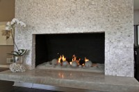 Sugar Cube Mosaic - Fireplace - Contemporary - Living Room ...