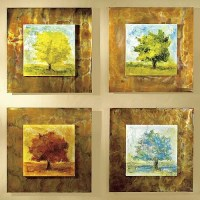 4 Seasons Copper Wall Art - Frontgate - Traditional ...