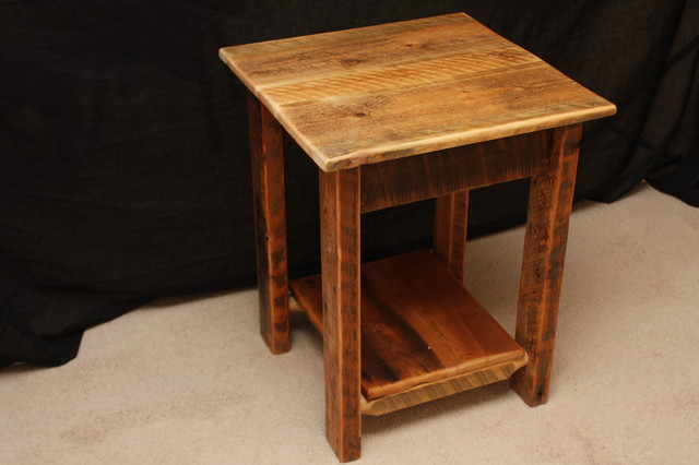 Barnwood Living Room Furniture Rustic Side Tables And