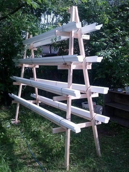 A-Frame freestanding gutter garden