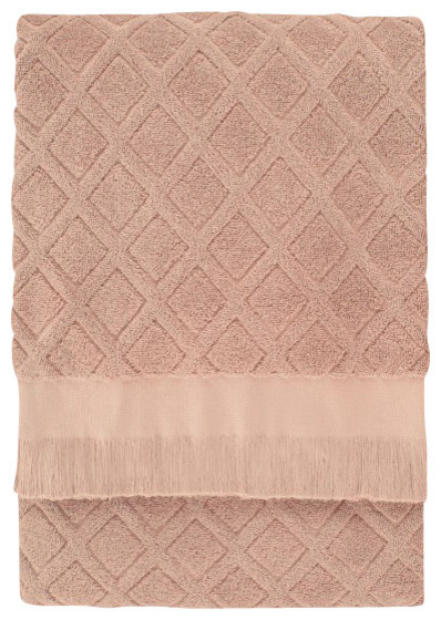 Trellis Bath Sheet, Dusty Rose