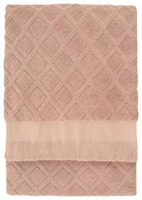 Trellis Bath Sheet, Dusty Rose - Traditional - Bath Towels ...