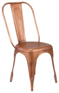 Felix | French Cafe Style Cafe Chair - Metallic, Copper ...