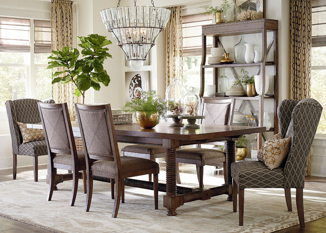 Compass 94 Trestle Dining Table by Bassett Furniture  Contemporary  Dining Room  by Bassett
