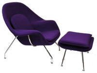 Woom Chair with Ottoman in Purple - Contemporary ...