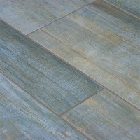 Barrique Blue Wood Plank Porcelain - Contemporary - Wall ...