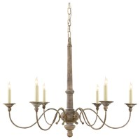 Belgian White Country Chandelier - Farmhouse - Chandeliers ...
