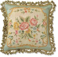 French Tapestry Aubusson Pillow - Eclectic - Decorative ...