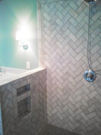 Herringbone shower