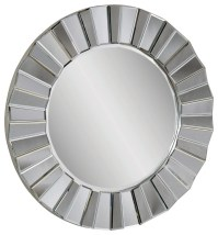 Faceted Round Wall Mirror - Contemporary - Mirrors - by ...