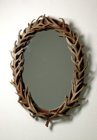 Oval Antler Mirror, Large - Eclectic - Wall Mirrors - by ...