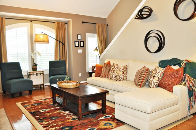 best colours for living room feng shui and dining colors cs-townhome - traditional houston by ...