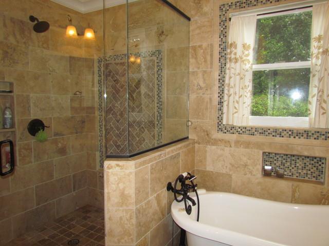 Warm Travertine Master Bath