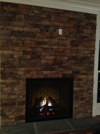 TV above fireplace without a mantle - help!