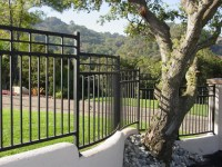 Exterior wall fence