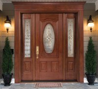 Single Fiberglass Door, with Doorlite & 2 Sidelites