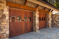 Wood Stained Garage Doors - Modern - Garage Doors And ...