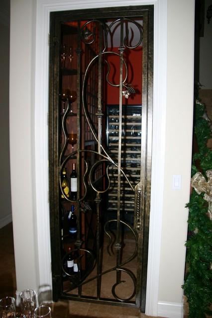 Forge Iron Designs Wine Cellar Door Gate