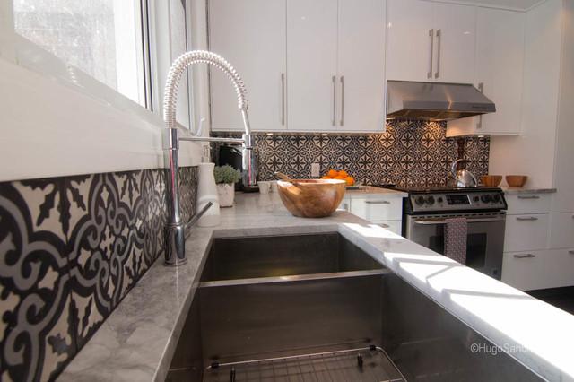 hansgrohe kitchen faucet purple rugs cement tiles backsplash - contemporary ...