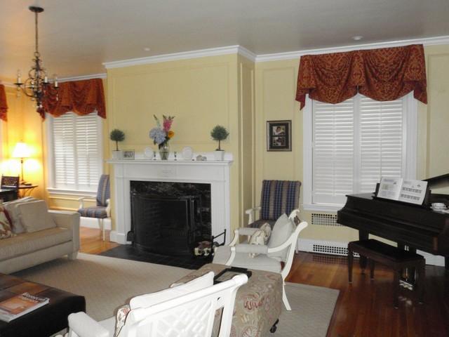 Plantation Shutters Traditional Living Room Boston