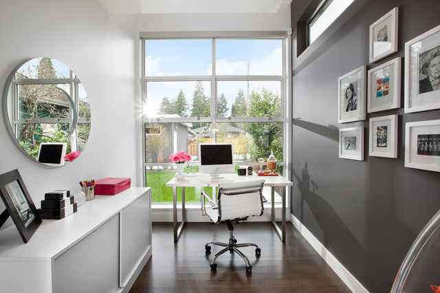 office with a view  Modern  Home Office  vancouver  by Meister Construction Ltd