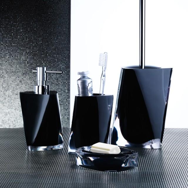 Twist Black Bathroom Accessories  Contemporary  Bathroom
