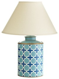 Blue Tea Caddy Lamp - Contemporary - Table Lamps - by Wisteria