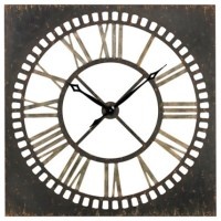 Rust and Large Metal 36-Inch Wall Clock - Modern - Clocks