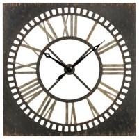 Rust and Large Metal 36-Inch Wall Clock - Modern - Clocks
