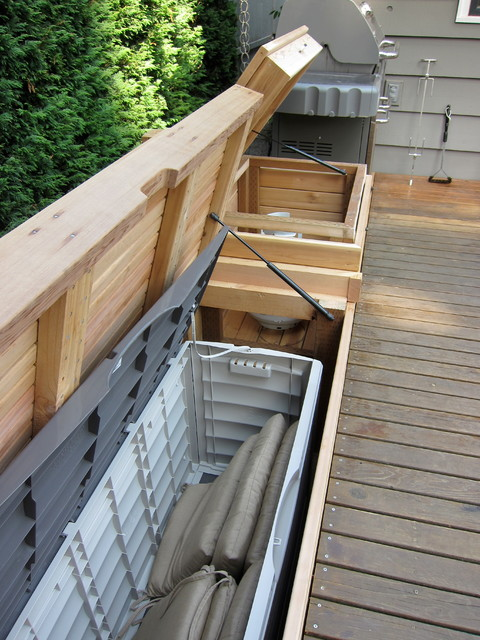 Built In Bench With Storage Patio Furniture And