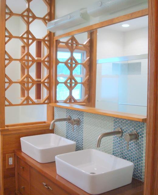 retro kitchen tile backsplash renovation costs nj mid-century ranch bathroom remodel - midcentury ...