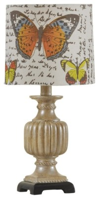 Country - Cottage Champagne Wash With Butterfly Shade Mini ...