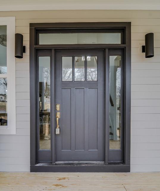 Black Craftsman Door Style