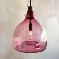 Rivendell Glass Pendant Chandelier, Pink - Contemporary ...