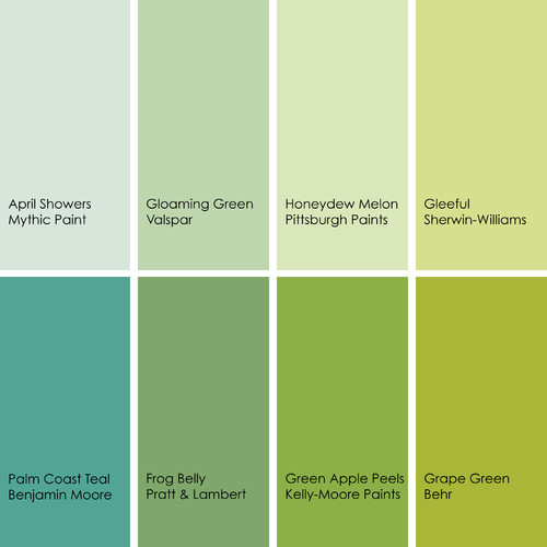 Image result for shades of green paint