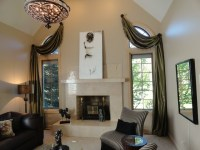 Living room drapery in Long Grove, IL - Contemporary ...