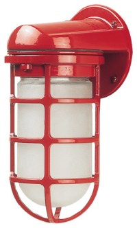 Barn Light Industrial Static Topless Sconce, Red ...