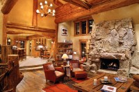 Hybrid Log House - Traditional - Living Room - vancouver ...
