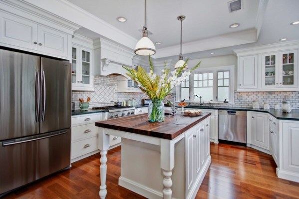 coastal style kitchen Colonial Coastal Kitchen - Beach Style - Kitchen - san diego - by Jackson Design & Remodeling