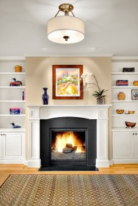I have bookshelves on either side of my fireplace. Should ...