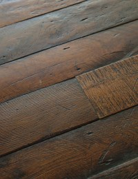 Antique French Oak Large Plank Wood Floors - Traditional ...