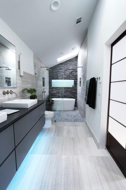 Cool Gray  Contemporary  Bathroom  atlanta  by Change Your Bathroom Inc