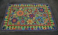 Outdoor mosaic carpet