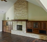 Stone Fireplace with Built Ins - Traditional - Family Room ...