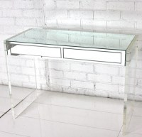 Mirror & Lucite Desk/Vanity - Modern - Desks And Hutches ...