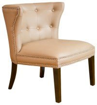Rocio Leather Accent Chair, Camel Tan - Traditional ...