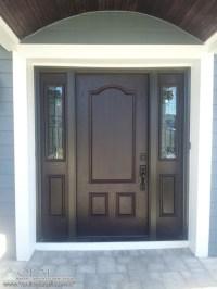 Dark Wood Front Door, Wood Porch Ceiling, Dark Blue ...